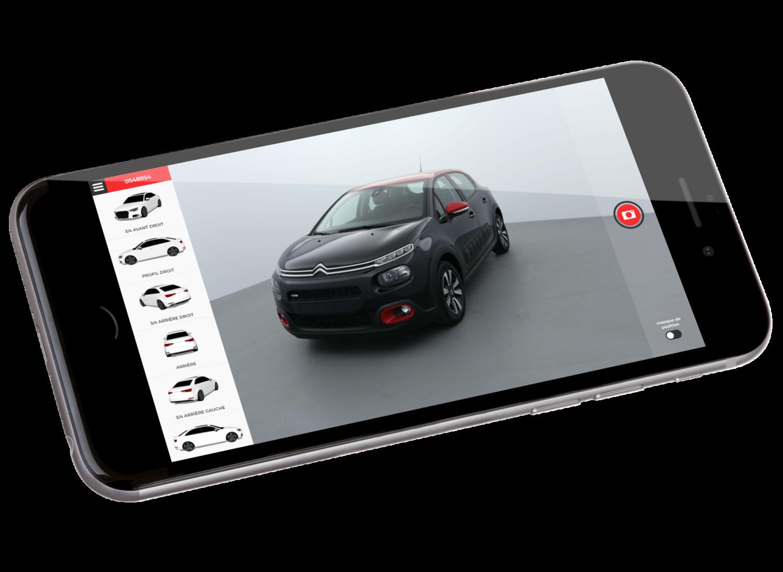 myCARLAB | Application mobile de photographie de voitures