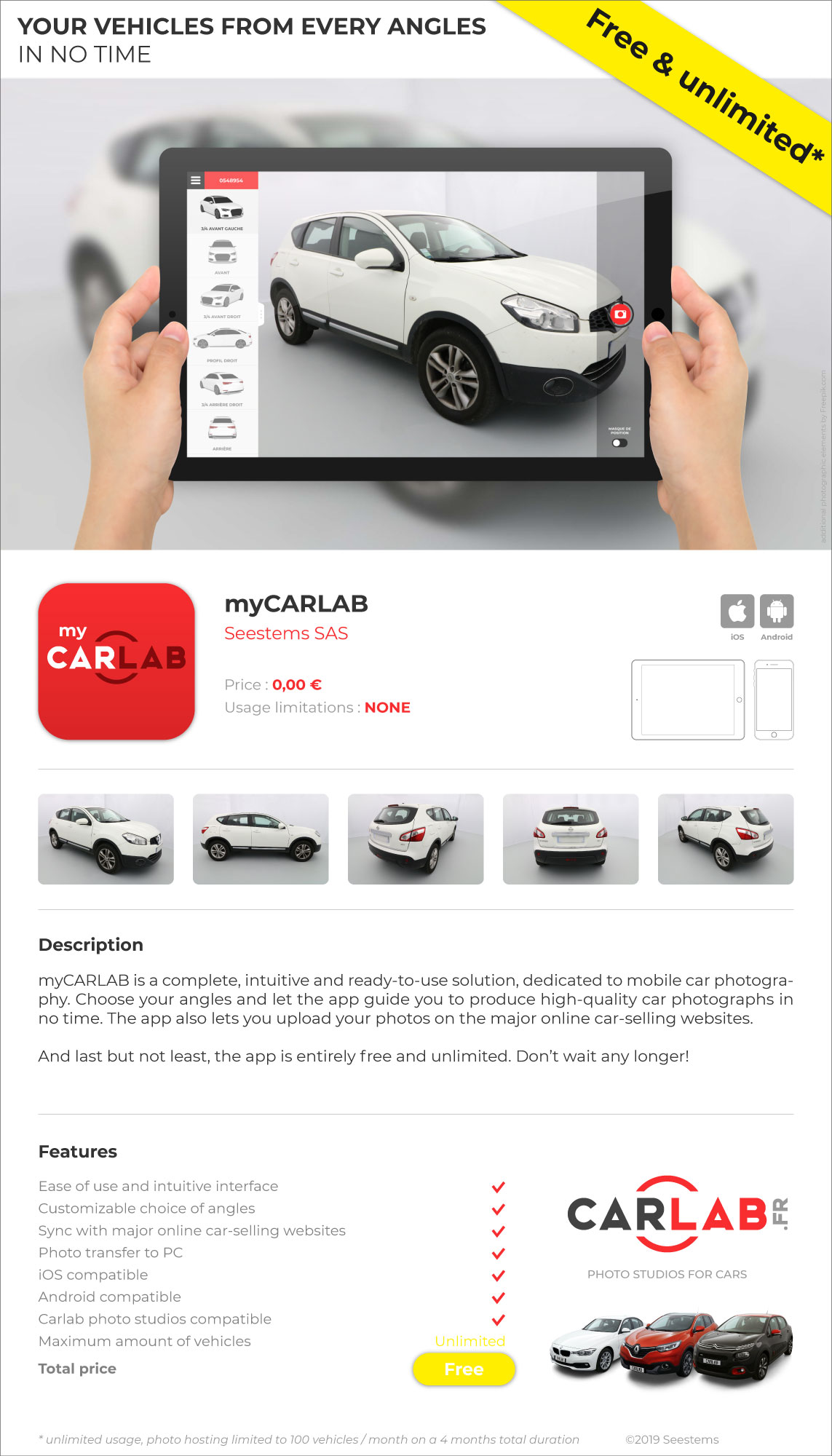 img mycarlab mobile car photography app stor carlab photo studios for cars