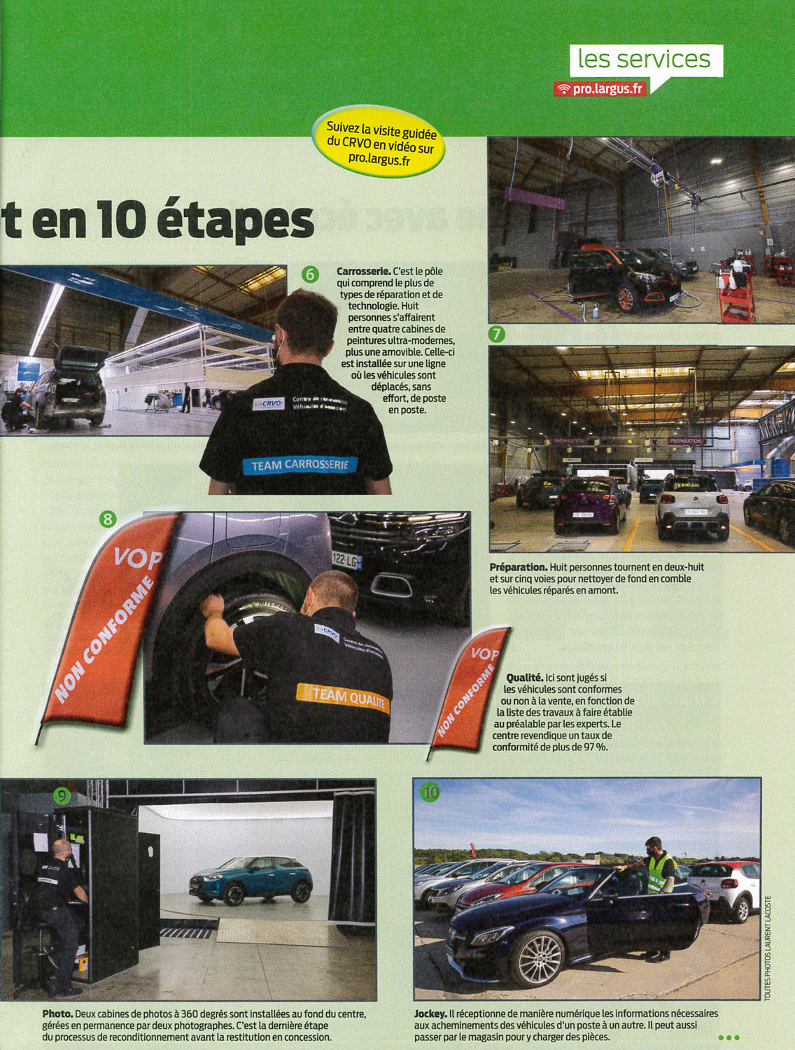 photo presse l argus pro 131 15 octobre 2020 usine VO CRVO emil frey studios photo voitures carlab